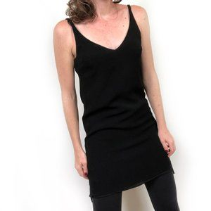 Topshop Black Sleeveless Lined V-Neck Dress